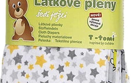T-TOMI Látkové pleny, sada 4 kusů, šedí ježci