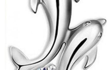 Řetízek s přívěskem delfínů - 2 kusy
