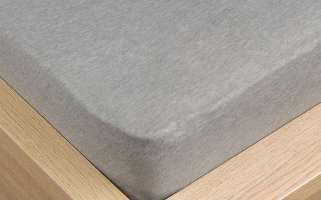 VOG Prostěradlo jersey Klasik šedá, 180 x 200 cm