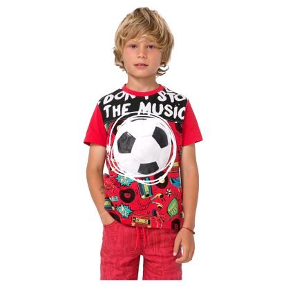 tričko Desigual Janitz rojo velikost: 3/4