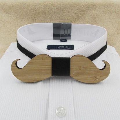 Designový dřevěný motýlek pro pány - 6 variant