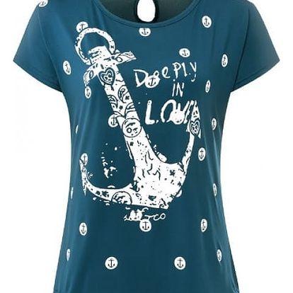 Dámské námořnické tričko - zelenomodrá, velikost 3