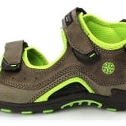 Kvalitní pánské sandále HANSON šedo-zelené