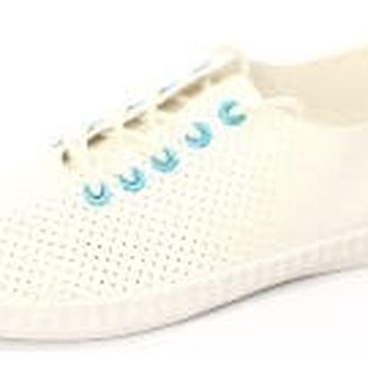 Moderní dámské děrované tenisky bílo-modré