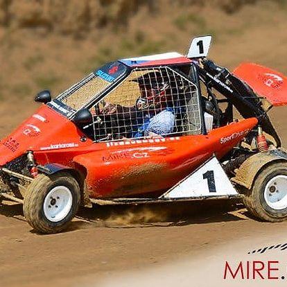 Jízda pro 1 v závodně upravené buggy na kartcross v Přibicích nebo v Přerově