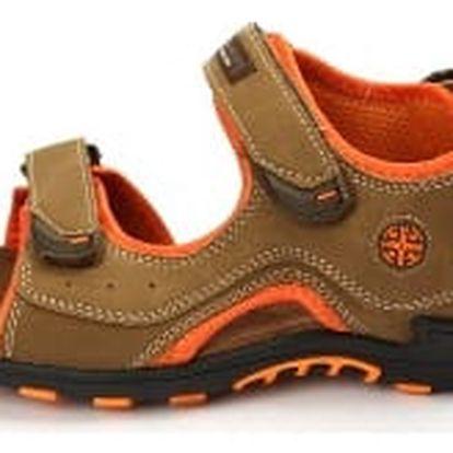 Kvalitní pánské sandále HANSON hnědo-oranžové