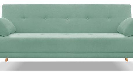 Mentolově zelená rozkládací pohovka pro čtyři Cosmopolitan design Stuttgart - doprava zdarma!