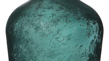Modrá skleněná váza Mica Diego, 30x18cm