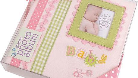 FOTOALBUM růžové Baby Memories pro 180 fotografií 10x15 cm (dárkové balení)