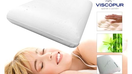 Anatomický polštář VISCOPUR® bamboo neprofilovaný 40x60cm