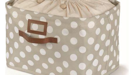 Béžový úložný box s vázáním Cosatto Jolie,25x40cm