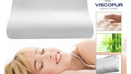 Anatomický polštář VISCOPUR® bamboo profilovaný 2ks