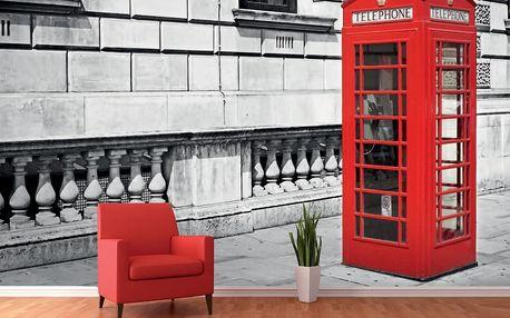 1Wall fototapeta Londýnská telefonní budka 360x253 cm