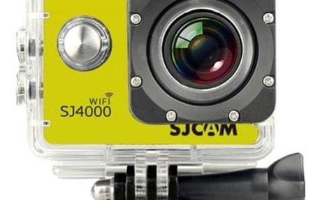 SJCAM SJ4000 WIFI sportovní kamera - žlutá