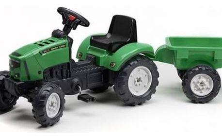 Šlapací traktor FALK Lander Z160X s vlečkou zelený