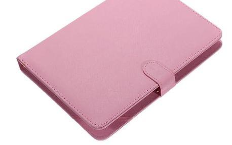 Koženkové pouzdro na tablet s připojitelnou klávesnicí - Růžová - dodání do 2 dnů
