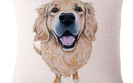 Povlak na polštář s malovanými plemeny psů - 25 variant