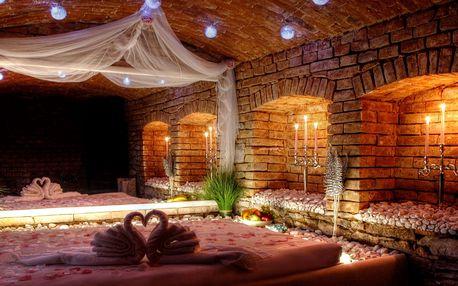 Dvě hodiny romantiky v privátním wellness pro dva