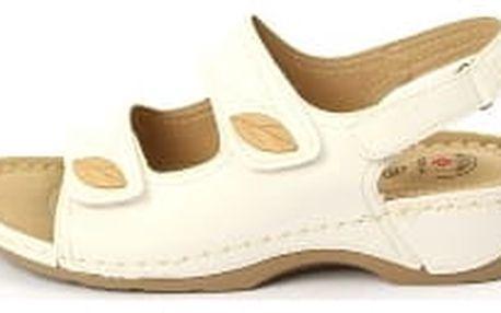 Dámské zdravotní sandále KOKA 6 bílé
