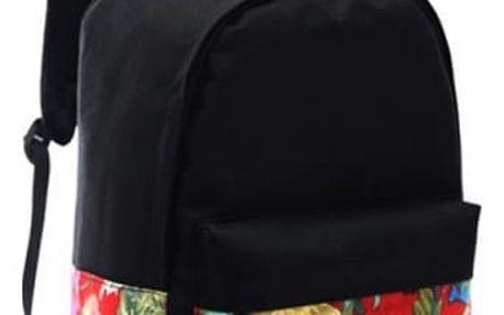 Černý dámský batoh s neobvyklými vzory - 5