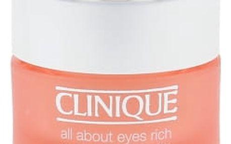 Clinique All About Eyes Rich 15 ml oční krém proti vráskám pro ženy