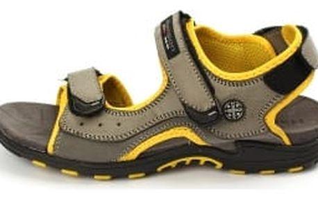 Kvalitní pánské sandále HANSON šedo-žluté