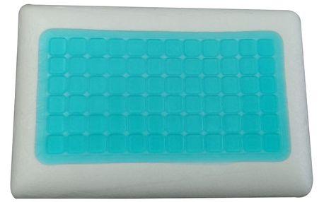 Anatomický polštář VISCOPUR COOL GEL s gelovou vrstvou neprofilovaný 40x60cm