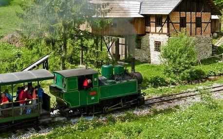 Pobyt na Oravě poblíž historické lesní železnice