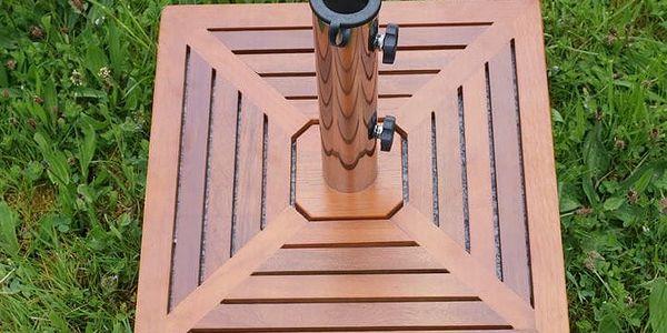 Garthen 1499 Stojan na slunečník - žula/nerezová ocel/dřevěné obložení, 40 kg5