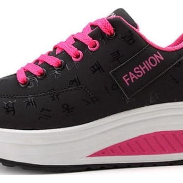 Dámské botasky na vyšší platformě - 3 barvy