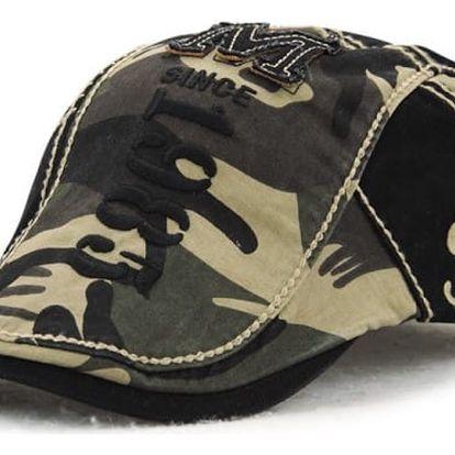 Nastavitelný unisex baret - Maskáčovaný - 2