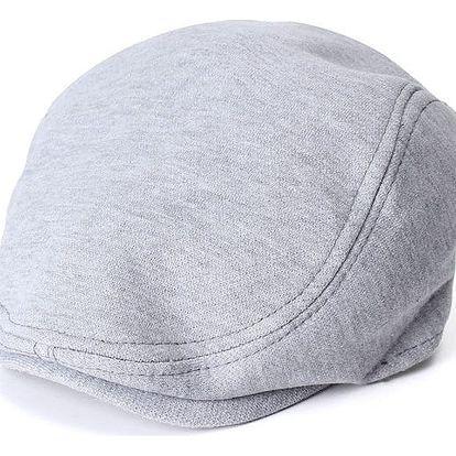 Unisex baret - Světle šedá