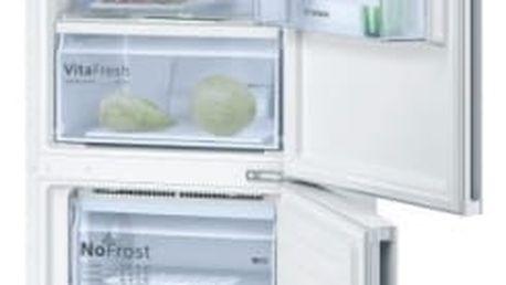 Kombinace chladničky s mrazničkou Bosch KGN36VW35 bílá + dárek