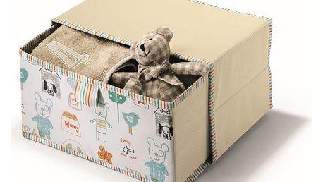 Béžový úložný box Cosatto Baby,20x30cm