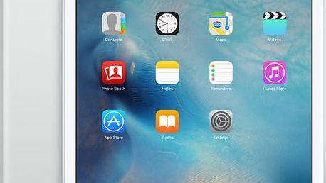 APPLE iPad Mini 4, Cell 128GB, Wi-Fi, stříbrná - MK772FD/A + Zdarma GSM T-Mobile SIM s kreditem 200Kč Twist (v ceně 200,-)