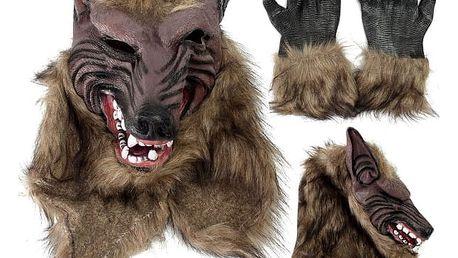 Halloweenská maska - vlčí hlava