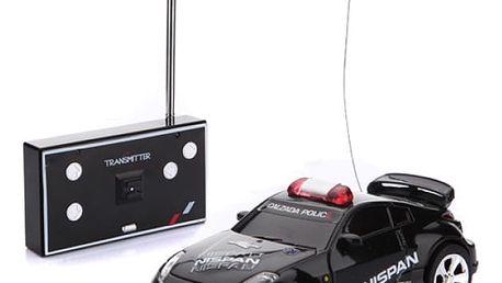 RC policejní autíčko na dálkové ovládání - Černá - dodání do 2 dnů