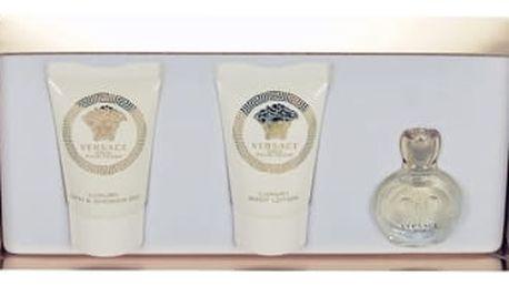 Versace Eros Pour Femme dárková kazeta pro ženy parfémovaná voda 5 ml + sprchový gel 25 ml + tělové mléko 25 ml