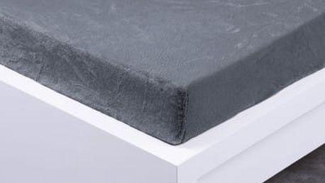 XPOSE ® Prostěradlo mikroflanel Exclusive jednolůžko - tmavě šedá 90x200 cm