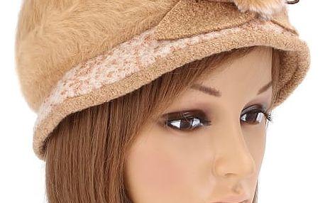 Dámský zimní čepice - retro styl - khaki