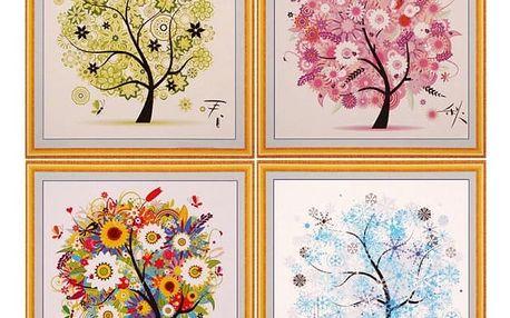 3D obraz 45 x 45 cm - Čtyři roční období - podzim