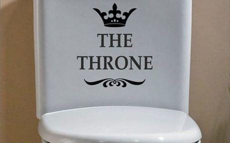 Samolepka na toaletu - trůn