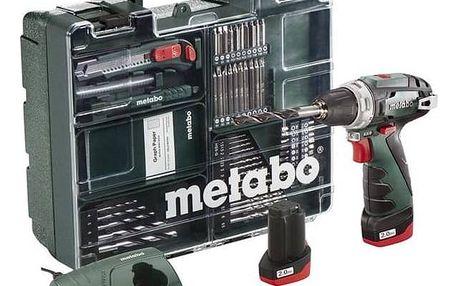 Aku vrtačka Metabo Power MaxxBSBasic MD 2x2Ah zelená + Doprava zdarma