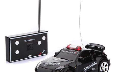 RC policejní autíčko na dálkové ovládání - Černá