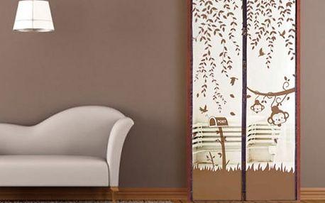 Samozavíratelná síť proti hmyzu do dveří s veselým motivem - 4 barvy