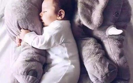 Plyšový slon pro děti - 30 cm - Šedá