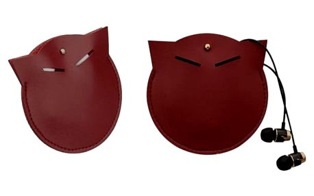 Pouzdro na sluchátka - kočka - Červená - dodání do 2 dnů