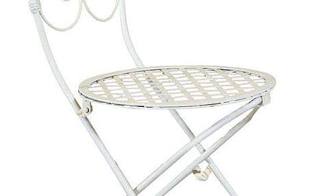 Rozkládací bílá židle Biscottini Folding Chair - doprava zdarma!