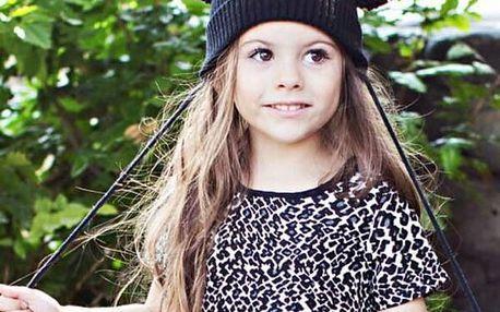 Dětská zimní čepice s ušima - černá