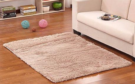 Měkký koberec do ložnice či obýváku - khaki